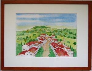 画像1: トスカーナの小さな街