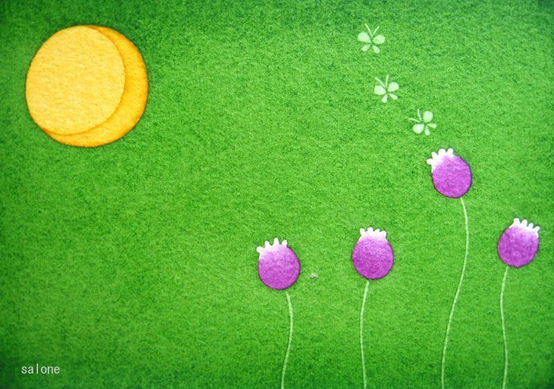 笑う月ー花