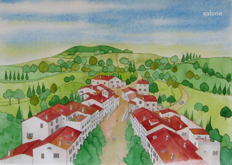 トスカーナの小さな街